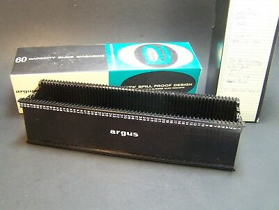 Argus 60 Slide Magazine Tray For 500 Series Projectors Spill Proof in Box # 587