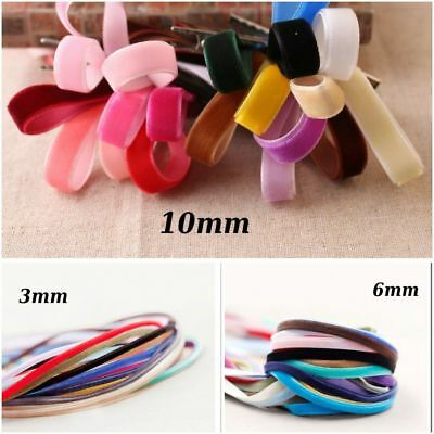 "1/8""-3/8"" Narrow Plush Velvet Ribbon Trim Choker Necklace Scrapbook Bow 3 6 10mm"