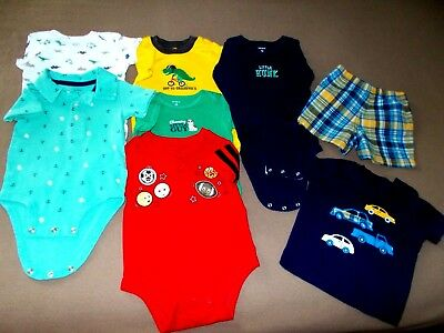 Toddler Boys 12 Mo. Mixed Lot of 7, Mostly Carter's, All Seasons, GUC