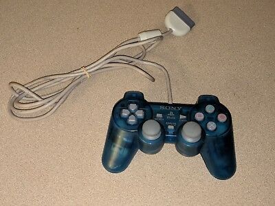 Official Oem Blue Sony Playstation 1 Ps1 Psone Controller Dual Shock Good Cond