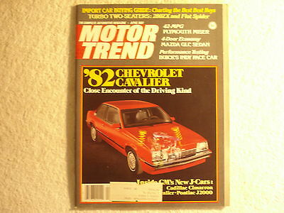 Motor Trend 1981 April Buick Indy Pace Car Shelby GT350 Convertibles Fiat Spider