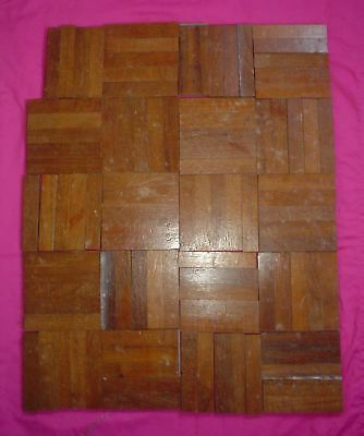 Reclaimed Parquet Floor Tiles 99 Fingers 120 Mm X 24 Mm X 9 Mm Teak