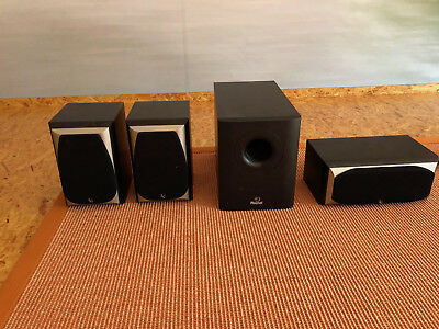 infinity lautsprecher 3er set mit magnat subwoofer eur. Black Bedroom Furniture Sets. Home Design Ideas