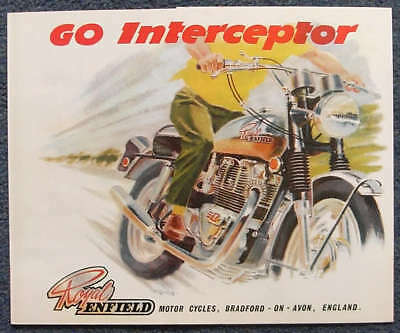 ROYAL ENFIELD INTERCEPTOR II MOTORCYCLE Sales Brochure c1969