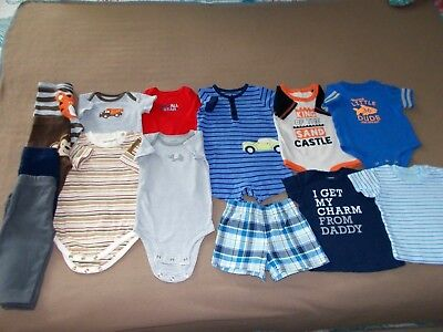 Baby Boys 3M, Mixed Lot of 14, Assorted Brands,All Seasons, GUC