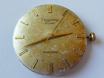 Dugena micro-rotor cal 1000 working WATCH MOVEMENT AND DIAL  movement  L82