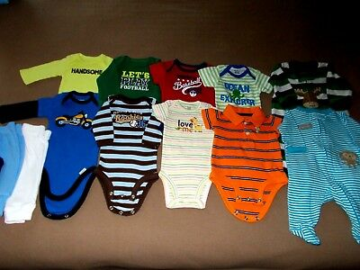 Infant Boys Size Newborn, Mixed Lot of 13, Assorted Brands,All Seasons,VGUC