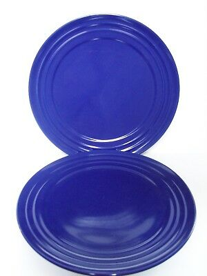 RACHEL RAY DOUBLE RIDGE Dinner Plates Dark Blue Set of 2 - £11.36 ...