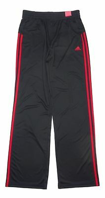 Adidas Boys Core Sweat Track Pants Black With Red Stripes           N-5
