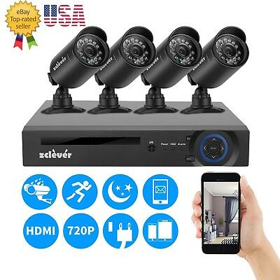 4CH 1080N CCTV 5IN1 DVR 1500TVL Outdoor 720P Night Vision Security Camera System