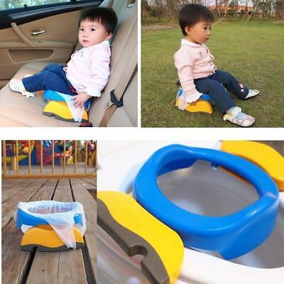 2 in1 Portable Travel Potty Chair Toilet Seat For Baby Kids Plastic Seat Cute LD
