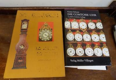 2 french books on comptoise clocks