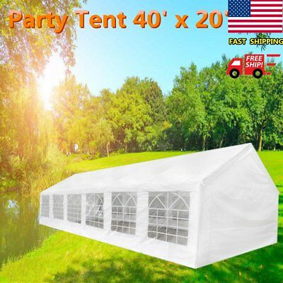 20' x 40' White Outdoor Party Tent Gazebo Canopy BBQ Wedding Removable Walls US