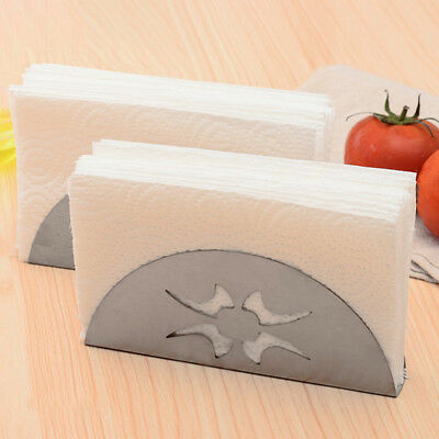 Modern Style Stainless Steel Collection Napkin Holder Paper Storage Towel Rack