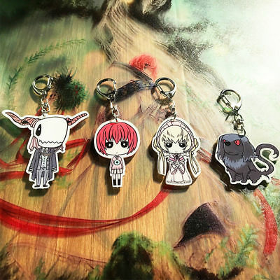 The Ancient Magus' Bride Elias Chise Hatori Acrylic Keychain Keyrings Key Rings