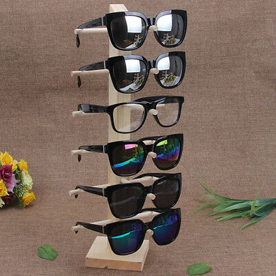 6 Layers Wooden Sunglasses Eye Glasses Display Rack Stand Holder Organizer