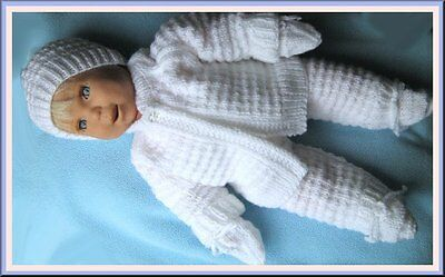 Hand Knitted Baby Layette,Pram Set, Baby Shower Gift set .0 to 3 months 8ply..