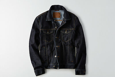 18SS AE American Eagle Outfitters Men Denim Jacket Dark Blue XS S NWT