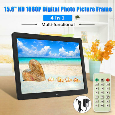 15'' HD 1080P LED Digital Photo Picture Frame Movie Player Remote Control RC AU