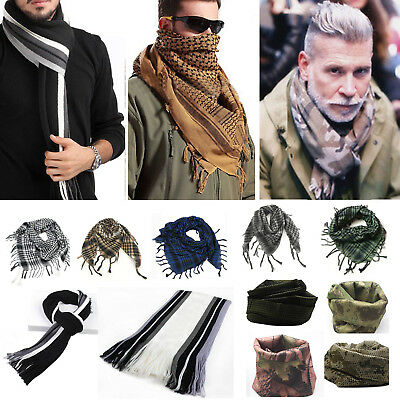 Unisex Men's Women's Vintage Scarf Winter Warm Wrap Shawl Scarves Tassel Stole