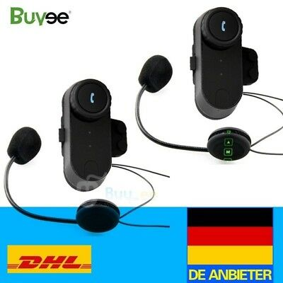 2x Motorrad Bluetooth Helm Gegensprechanlage Intercom Sprechanlage Headset 800M