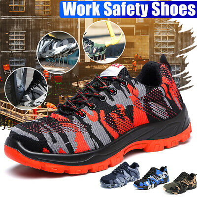AtreGo Men Safety Steel Toe Protective Indestructible Breathable Work Boots