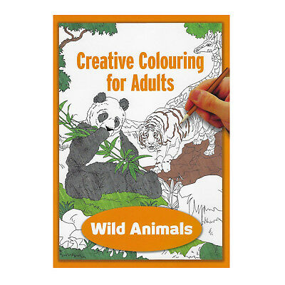 Creative Colouring Book for Adults Wild Animal Scenes Book Over 24 Pages