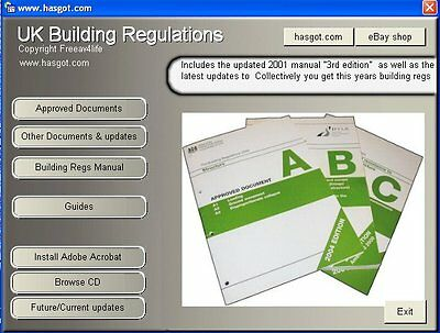 2001-2018 UK Building Regulations Regs CD & Guides for Windows & Mobile Devices
