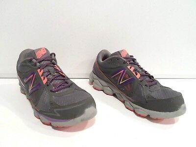 5497c87fd2ef2 New Balance 750v3 Womens Running Shoes Size 10 Gray Purple Coral Athletic 750  v3