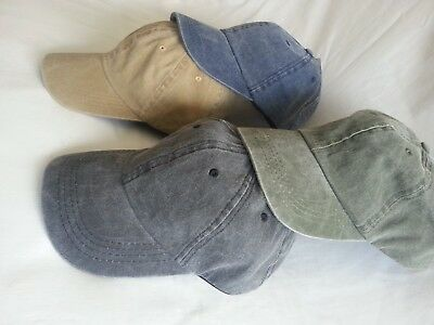 Low Profile Stone Washed Relaxed Baseball Adjustable Peak Cap Sun Hat Denim