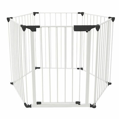 3-in-1 Folding Baby Playpen Safety Gate Fire Guard Room Divider Wall Mounted