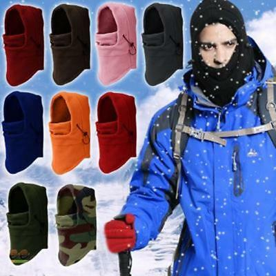 Unisex Winter Warm Snood Fleece Men Scarf Hood Neck Face Mask Cycling Ski Hat Ji