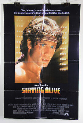 L002385 Staying Alive 1983 Movie Poster Restoration Project 41 x 27 Travolta