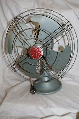 Vintage GE General Electric GREEN Oscillating Electric Fan - WORKS No. 93