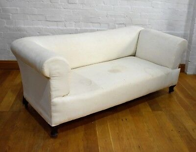Antique drop end settee sofa - day bed - chaise longue