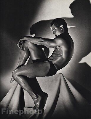 1985 Male Nude 11x14 GREG LOUGANIS Diving Physique Photo Gravure Gay HERB RITTS