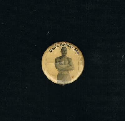 EXTREMELY RARE 1900s PETER JACKSON pinback button early black fighter Langford
