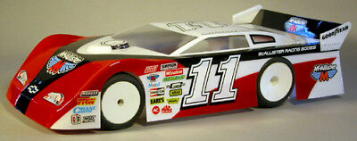 """DIRT OVAL R//C SPRINT CAR LATE MODEL MODIFIED BODY AND WING BRACES 3.5/"""" K1029"""