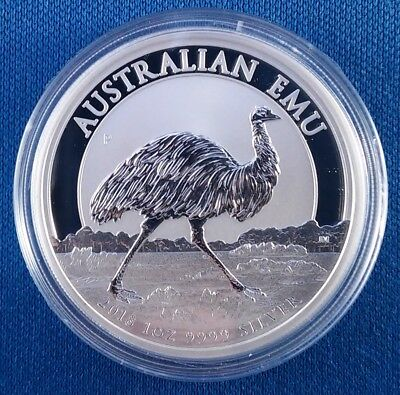 2018 Australia Emu 1 Ounce .9999 Silver Coin from Sealed Roll