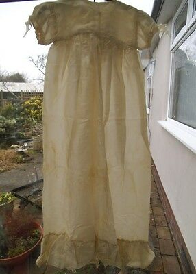 Vintage Baby Shawl and Christening Gown (needs tlc) over 60 years old