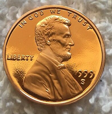 1999-S Proof LINCOLN CENT PULLED U.s. Mint Set Wow Look Beautiful Coin