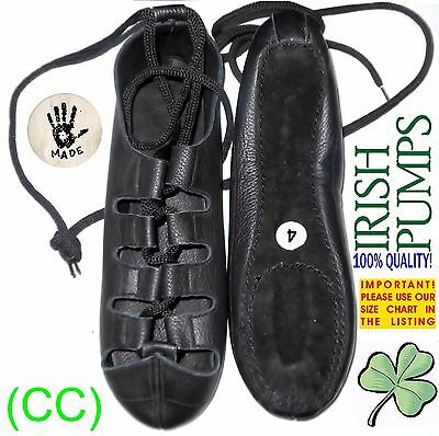 IRISH DANCE SHOES DANCING LEATHER COMFORT reel pumps jig ghillie (CC) (2)