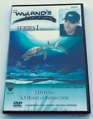 Wyland 3 DVD Series I, 6 1/2 HRS OF PAINTING LESSONS  with  America's #1 ARTIST