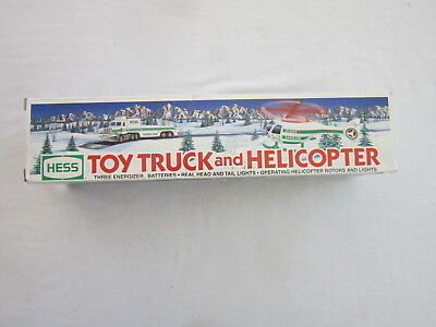 Hess Truck and Helicopter / Battery Powered / 1996 / New In Open Box