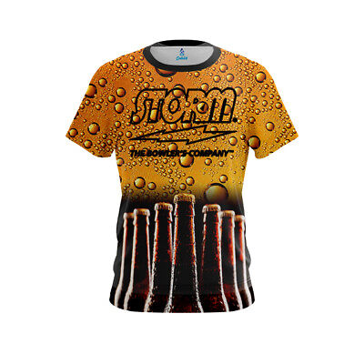 CoolWick Storm Canvas Orange Bowling Jersey