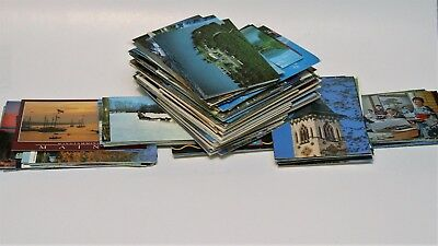 Lot of 25 random postcards from the 60s, 70s, 80s