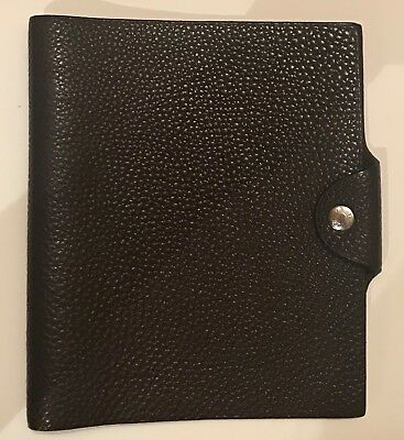 Authentic Hermes Ulysse Brown Togo Leather Agenda Notebook