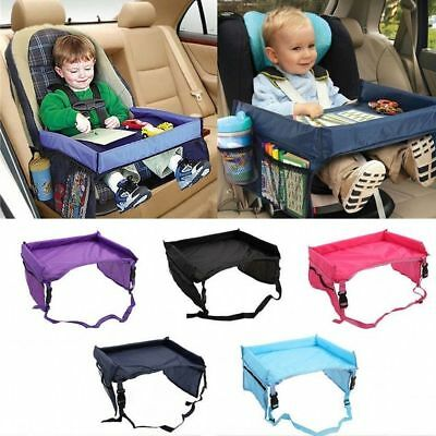 Kids Baby Safety Car Seat Table Child Snack Plate Play Travel Drawing Board Tray