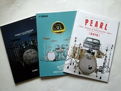 Japan Drums Catalog Set of 3 YAMAHA PEARL TAMA