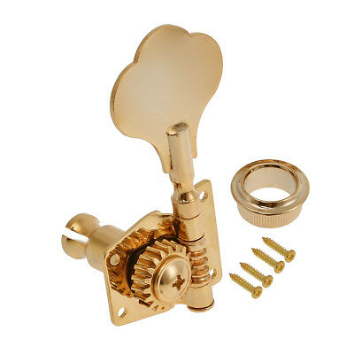 4L Bass Tuners Tuner 4 String Guitar Tuning Pegs Keys Machine Heads Screw Gold